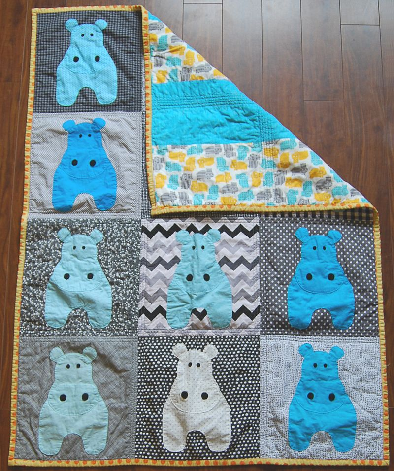 Mavericks Hippo Quilt 7