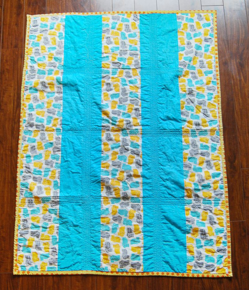 Mavericks Hippo Quilt Back