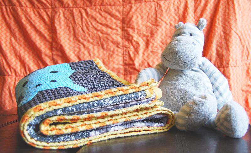 Hippo Quilt with Hippo 2