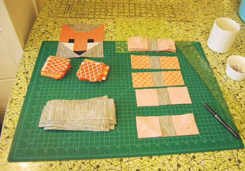 Rebecca Danger's Fox Quilt in Progress 2