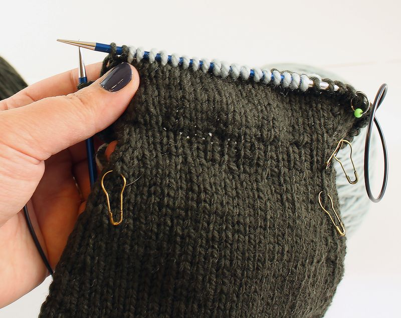 Colorwork in the round tutorial 18