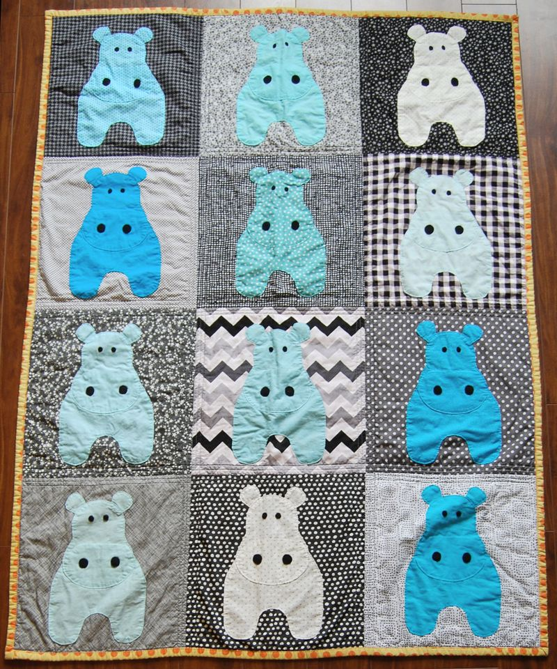Mavericks Hippo Quilt 6
