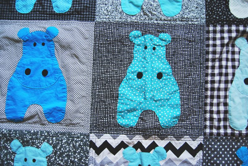 Hippo Quilt Close Up 3