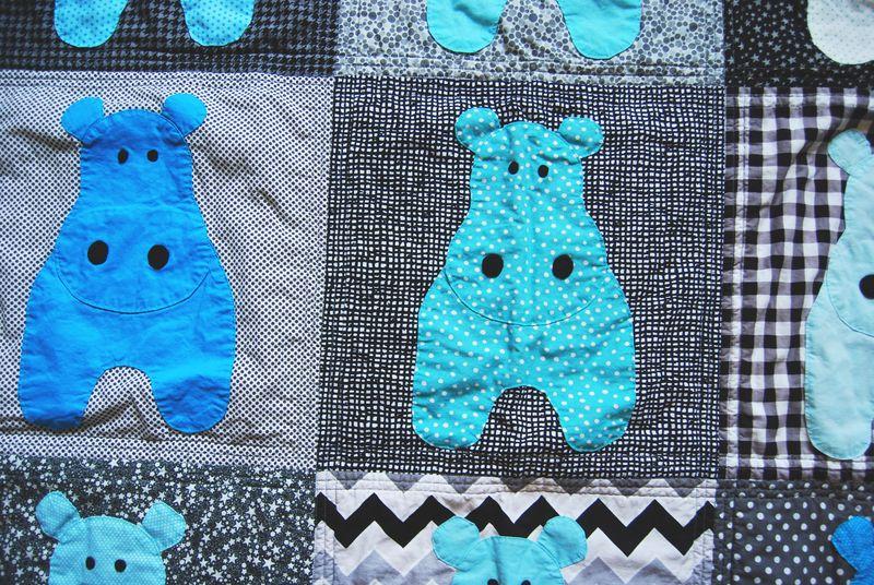 Hippo Quilt Close Up 3