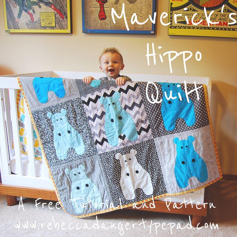 Maverick's Hippo Quilt Free Tutorial