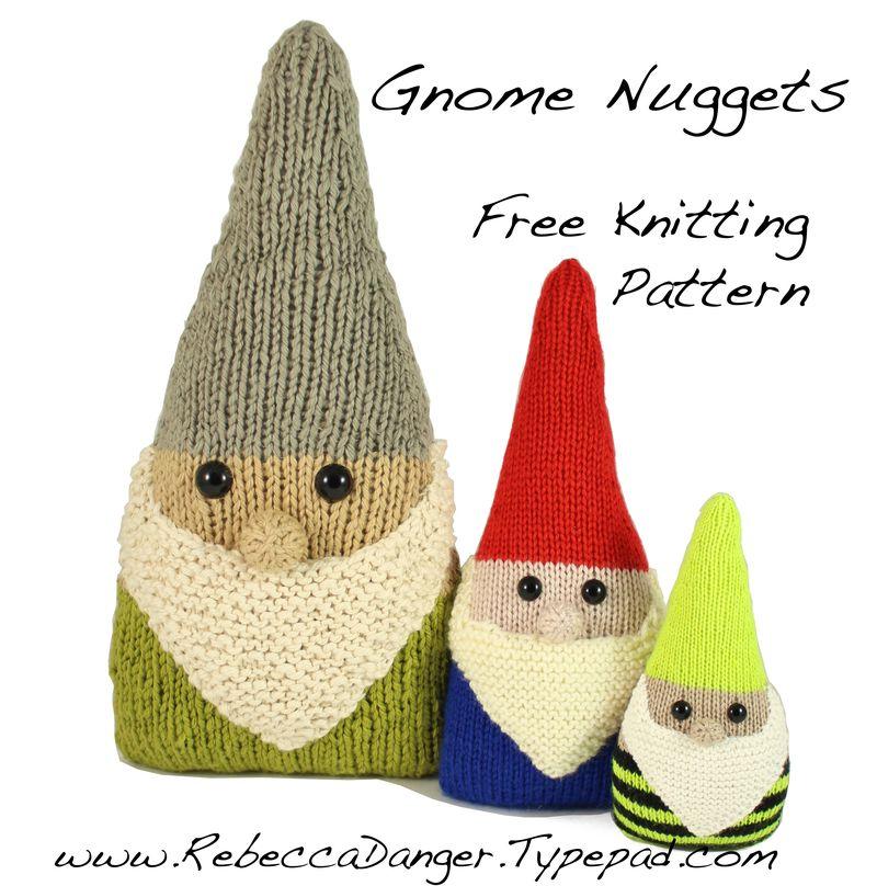 Gnome Nuggets Free Knitting Pattern