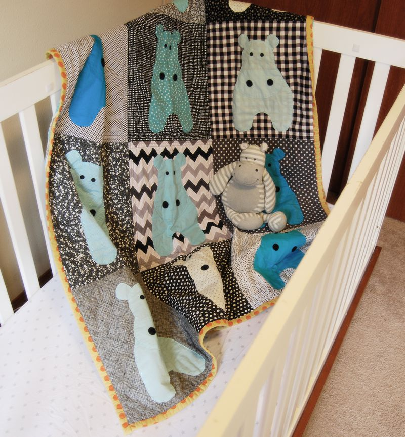 Mavericks Hippo Quilt 4