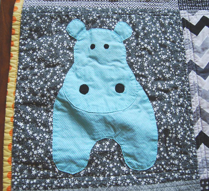 Hippo Quilt Close Up 2