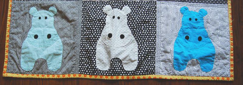 Hippo Quilt Close Up 4