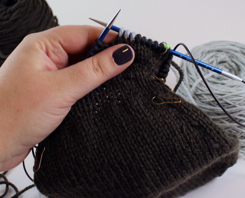 Colorwork in the round tutorial 7